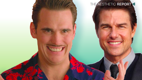 Above left and right - Perfect teeth resembling piano like keys (in the form of Matt Dillion's character in 'Something about Mary', and superstar, Tom Cruise) are no longer considered attractive...
