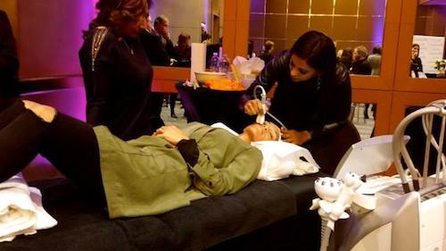 Dr Neetu Moodlier was on hand to perform treatments