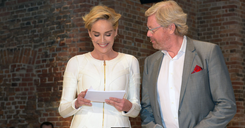 Sharon Stone hosting the Proof  in Real Life Event in Berlin, Germany