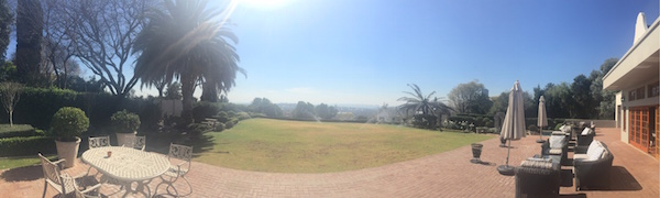 A gorgeous view from The View Boutique Hotel in Auckland Park